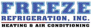 Freeze Refrigeration, Inc. Heating and Air Conditioning Logo