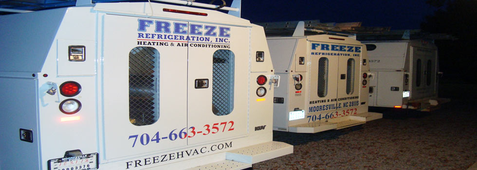 Freeze Refrigeration, Inc. Heating and Air Conditioning Services of Mooresville, NC